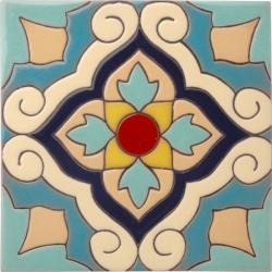 Powder Room patchwork tile.