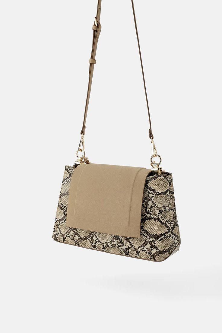 Image 4 of ANIMAL PRINT CROSSBODY BAG WITH LEATHER FLAP from Zara