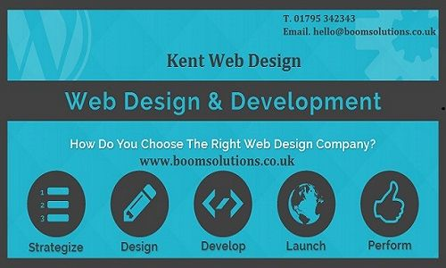 Kent Web Design Boom Solutions – We're a small design agency that specialise in helping businesses get he most out of the internet. Wether you are looking for a new website, a full rebrand or to work out a full digital marketing strategy we can help.We offer web design, development, app development, SEO, Google Adwords, Social Media Management, banner advertising services and local online marketing Kent. Call us 01795 342343.