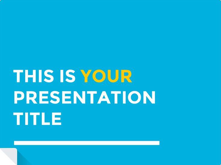 25+ ide terbaik tentang Free Presentation Templates di Pinterest - elevator pitch template