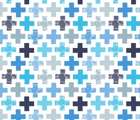 Patchy Crosses fabric by nossisel on Spoonflower - custom fabric