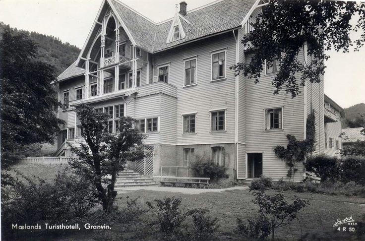 Granvin i Hordaland. Mælands Turisthotell. 1950-tallet? Foto: Harstad