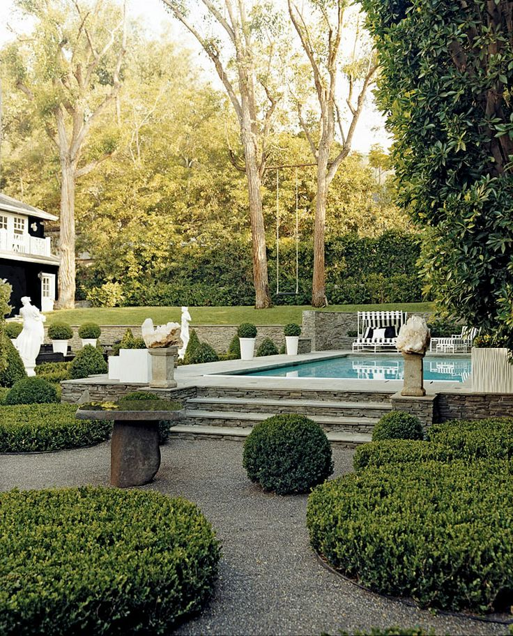 Beautiful step-up pool area. {Garden by Art Luna}
