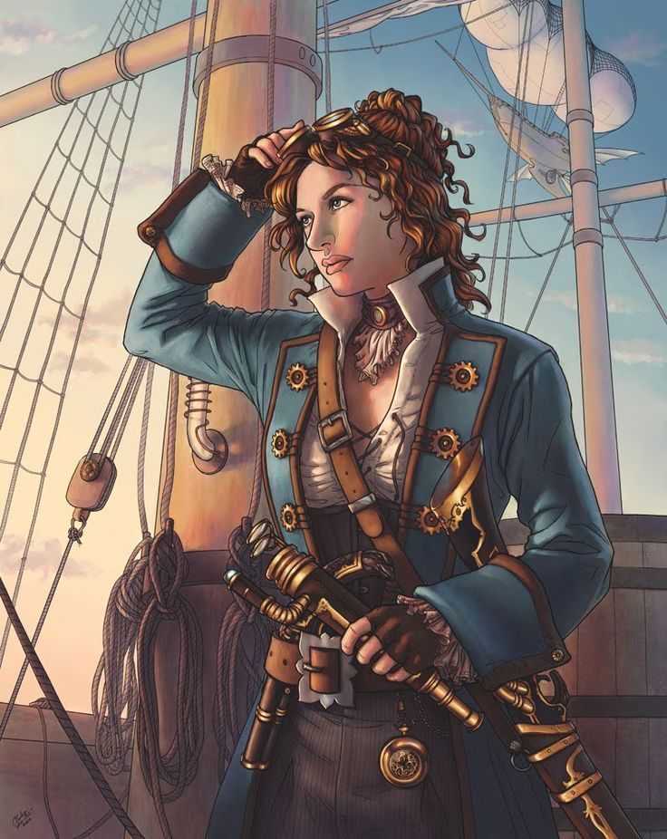 Female pirate drawing - photo#55