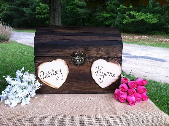 Large Rustic Wedding Card Box - Rustic Wooden Wedding Box - Shabby Chic Box - Well Wishes Box on Etsy, $63.00