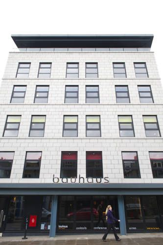 Bauhaus Hotel Aberdeen In Aberdeen city centre, Bauhaus is an urban boutique hotel with modern rooms and free Wi-Fi. Rail and bus stations are within walking distance.  Bauhaus Hotel has a contemporary lounge bar with a 60-inch flat-screen TV.