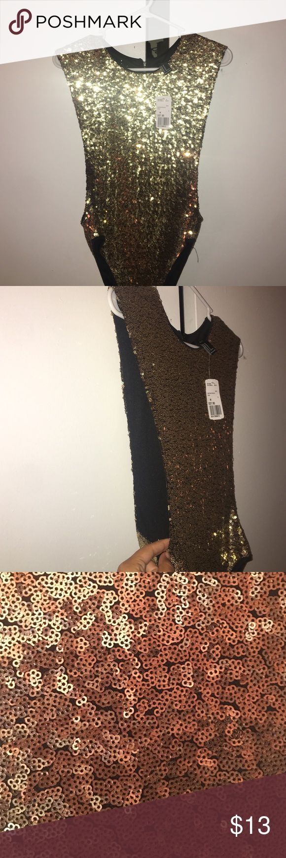 Gold bodysuit Forever21 gold bodysuit. New with tags and perfect for NYE Forever 21 Other