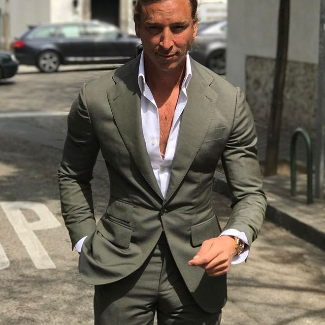 @absolutebespoke #khaki #suit