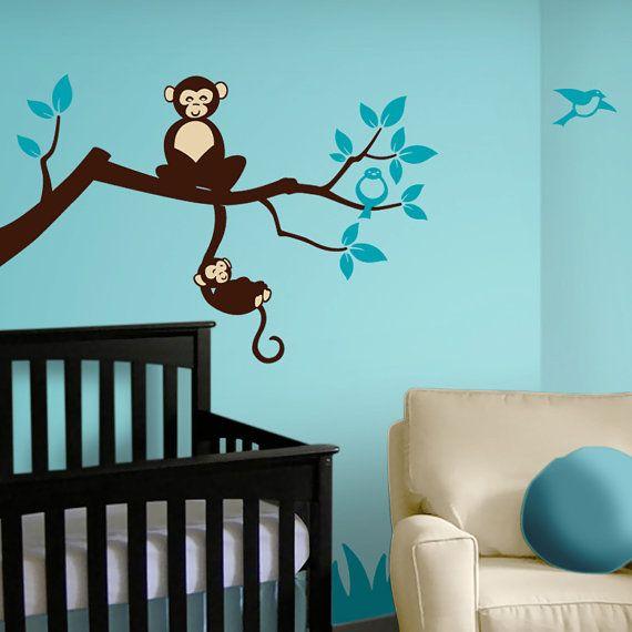 Tree+Branch+Monkey+Nursery+Vinyl+Wall+Decals++Tree+by+Lulukuku,+$38.50