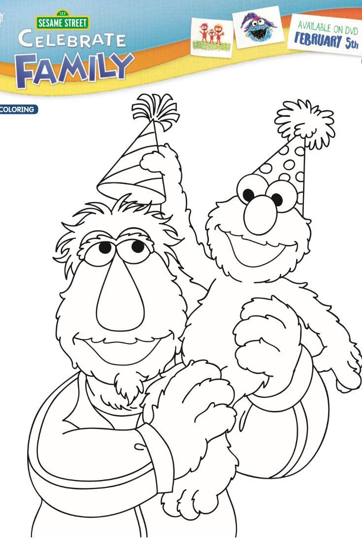Sesame Street Birthday Coloring Page Sesame Street Birthday