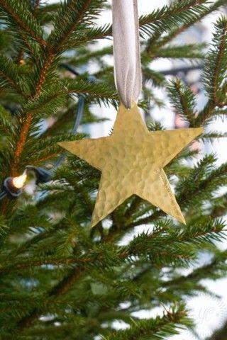Juldekoration Stjärna Mässing
