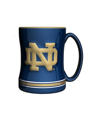 Notre Dame Fighting Irish 14oz Sculpted Relief Mug