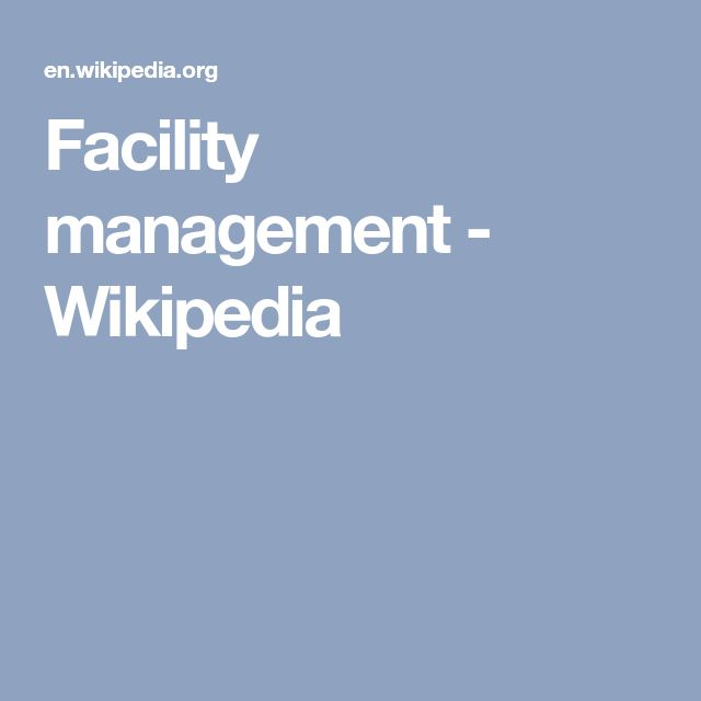 Facility management - Wikipedia
