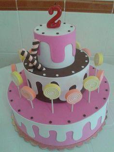 como hacer un pastel de cumpleaños en fomi - Buscar con Google