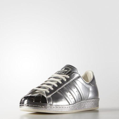 9fdc758ff1e adidas Superstar 80s Metallic Shoes - Silver