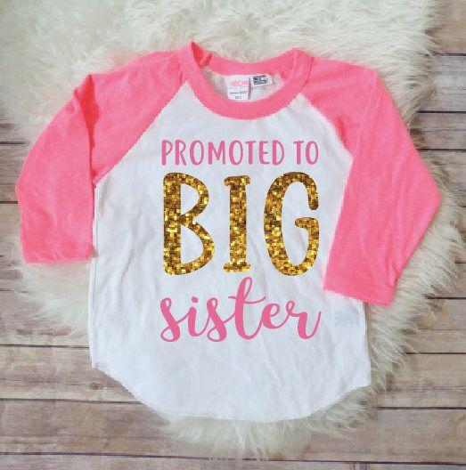 Best 25 big sister shirts ideas on pinterest big sister for Big sister birth announcement shirts