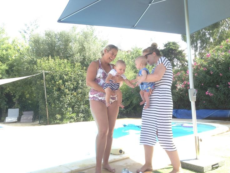 Baby friendly holidays in action!  Here are two of our younger customers at the pool in 2017.  We are really baby and toddler friendly so don't delay... come to the specialists for your holiday next time!