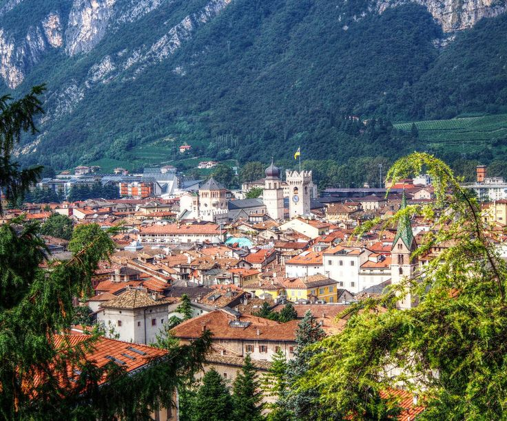 Trento Against the Dolomites with Towers