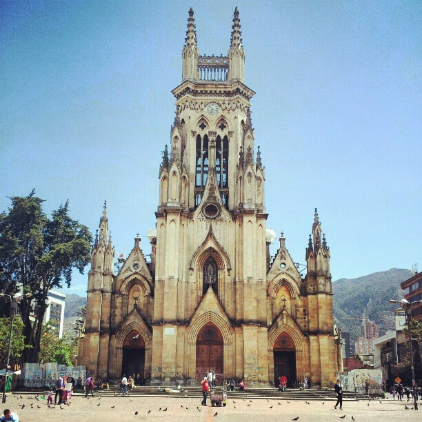 Lourdes church, Bogotá, Colombia(as a child we went to Mass here and my older sister got married here also)