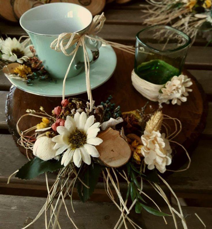 Çiçekli Damat Fincanı -