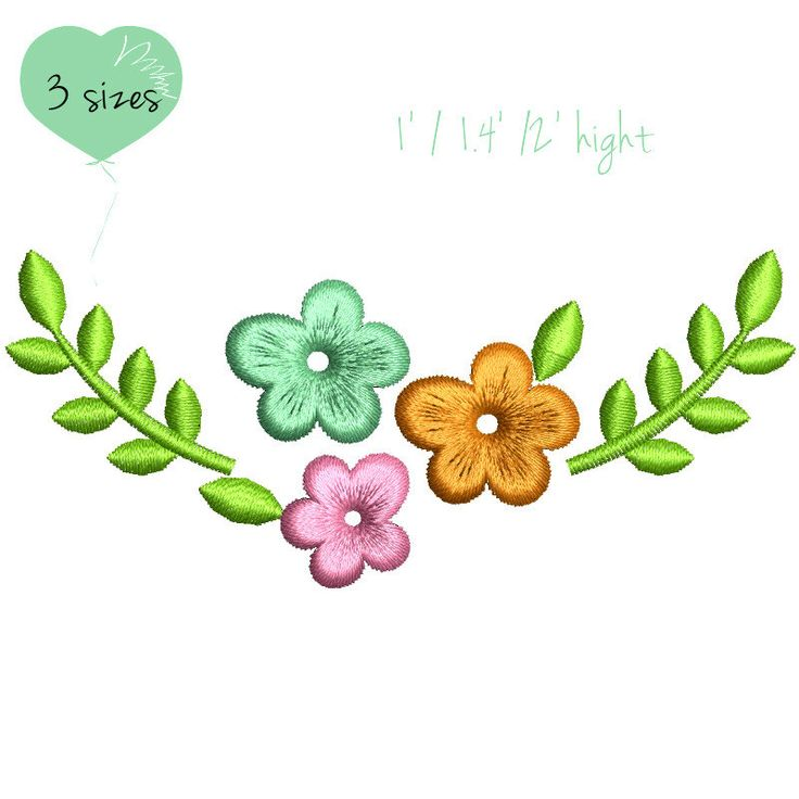 Flower embroidery design bloom machine pattern digital download sping easter by GretaembroideryShop on Etsy