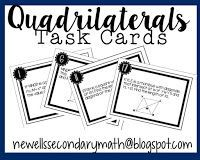 FREE Quadrilaterals Review Task Cards