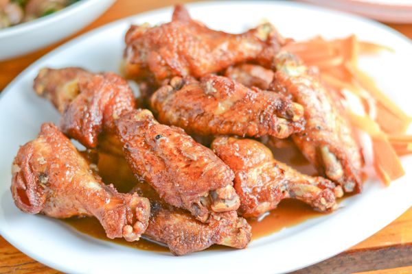 In this Adobo Fried Chicken Wings recipe, the chicken wings were first cooked in a tangy adobo sauce and then fried to get that crispy browned texture.
