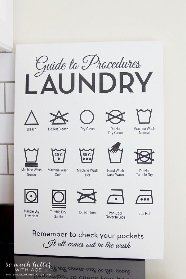 Beautiful Wooden Laundry Guide Artwork + Giveaway | So Much Better With Age