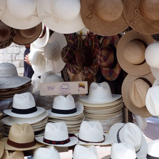 The 'Panama' hat, which incidentally, is from Ecuador.   Otavalo, Ecuador