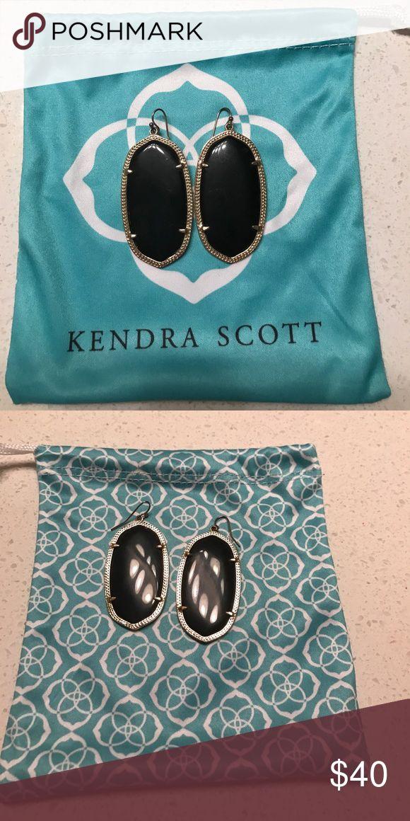 Kendra Scott Danielle earrings in black Pair of black Kendra Scott Danielle earrings (gold rimmed) Kendra Scott Jewelry Earrings