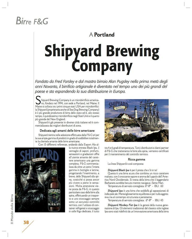 Articolo del mondo della birra sulla Shipyard Brewery #shipyard #americancraftbeer