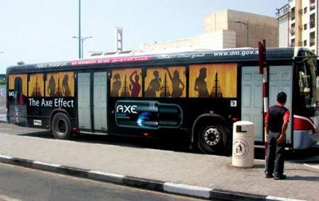 Axe Bus Guerrilla Marketing