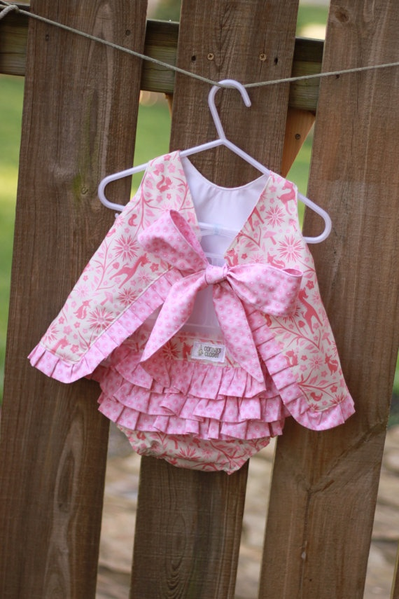 Pinafore and ruffle bloomers  *buy local*