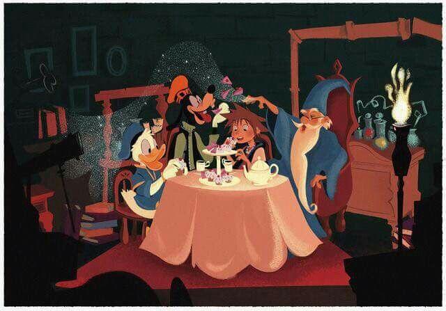 Donald, Goofy, Sora, and Merlin
