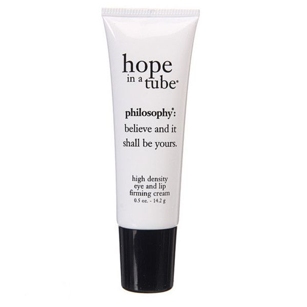 Philosophy: Hope in a Tube Eye and Lip Contour Cream Tube 0.5 oz ($35) ❤ liked on Polyvore featuring beauty products, skincare, eye care, philosophy skin care and philosophy skincare