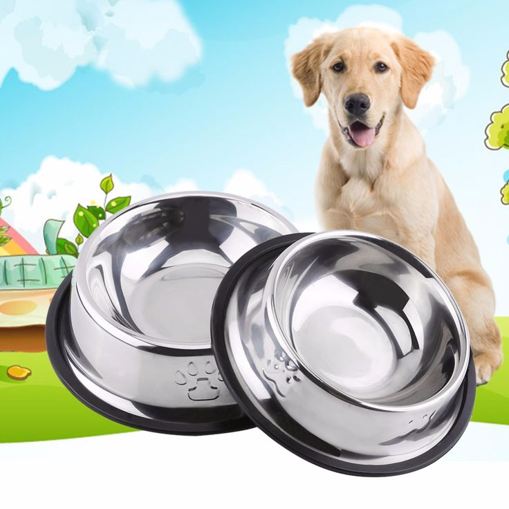 XS S M L XL 5 Sizes Stainless Steel Pet Dog Cat Puppy Travel Feeding Feeder Food Water Dish Holder
