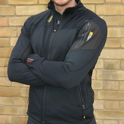 Snickers Workwear 94380400 | Snickers Body Mapping Micro Fleece Jacket (Black)
