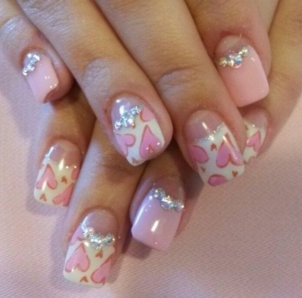 Trendy Heart Nail Arts Ideas for this coming Valentine's Day