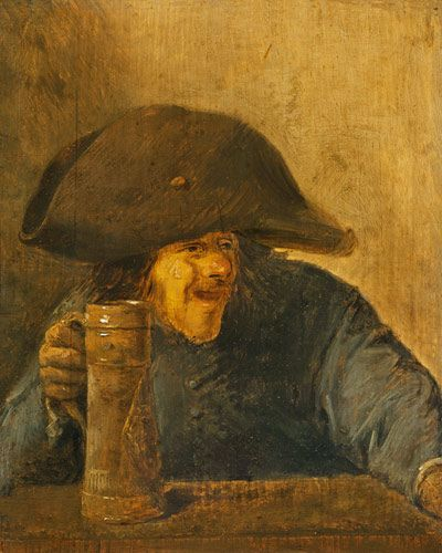 Adriaen Brouwer - Smallholder with two-master and jug