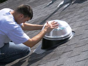 Solar Tube Installation Brings Light in the Home  - Quality #RoofingContractor