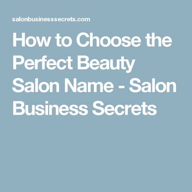 Names For Beauty Salons