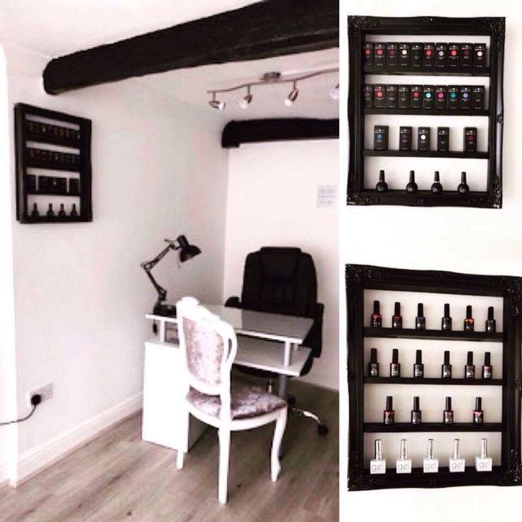 Nail polish rack storage shelf salon furniture by Mrshabbymrschic on Etsy