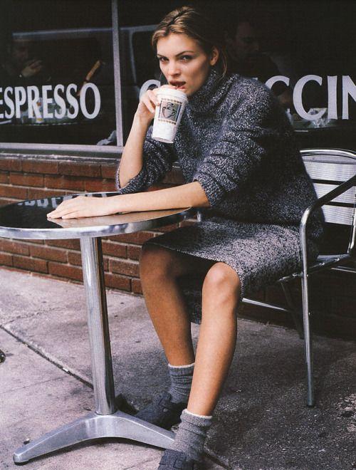 """Gray Matters"", Marie Claire US, September 1998Photographer : Pamela HansonModel : Esther Canadas"