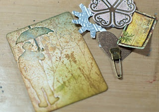 Tutorial for stamping on embossing folders for unique background