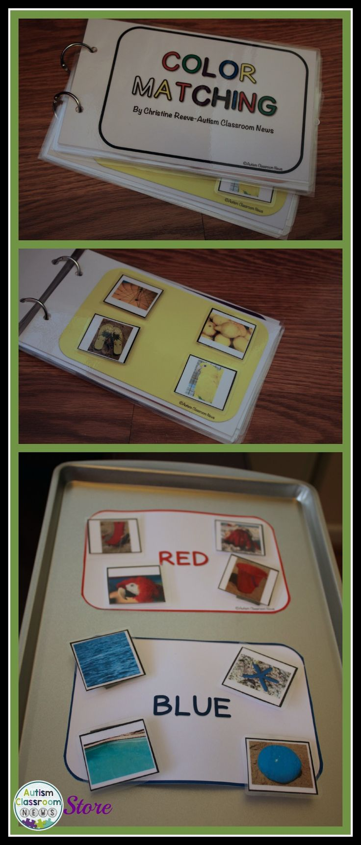 Color matching materials that an be used in a variety of ways. Great for early childhood and special education $