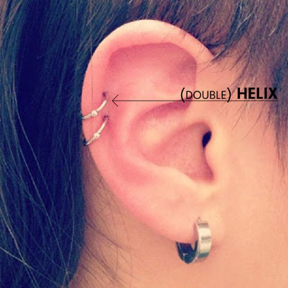 This is my favorite look. Except I have my lobe pierced twice and all I need now is the second helix