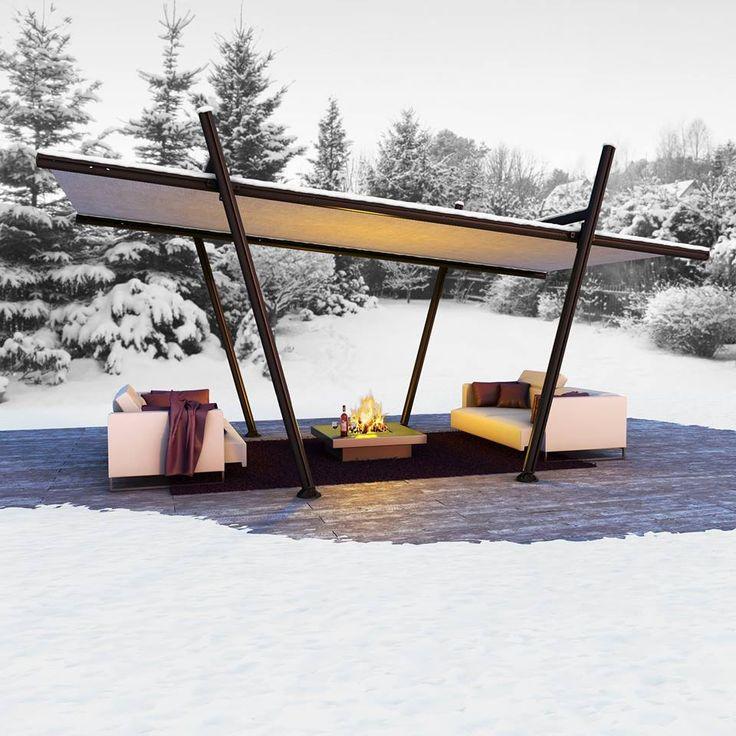 7 best agencement de terrasse images on Pinterest Decks, Arbors - toile tendue pour terrasse