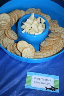 Shark Party Food: Sharks teeth and sand dollars