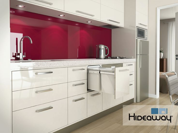 Hideaway Bins are the ideal solution for any domestic or commercial kitchen. Model: Hideaway Deluxe KK6D. The Hideaway Deluxe range features a friction-fitted lid to keep odours locked away. The lid also includes an antibacterial Clinikill™ powder coating to keep the solution hygienic - a must for any home or workplace kitchen.