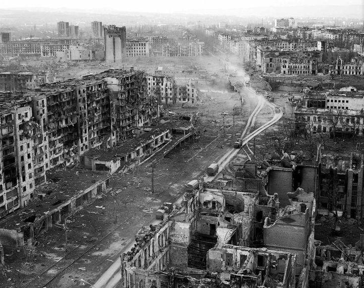 Zerstörtes Grosny 1994